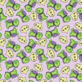 Dinosaur pattern green Stock Images