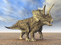 Dinosaur Pentaceratops stock illustration