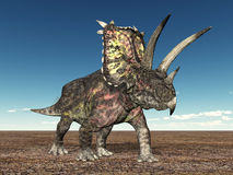 Dinosaur Pentaceratops royalty free illustration