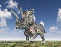 Dinosaur Pentaceratops. Computer generated 3D illustration with the dinosaur Pentaceratops Stock Photo
