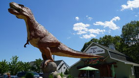 The Dinosaur Place at Nature's Art Village in Montville, Connecticut Royalty Free Stock Image