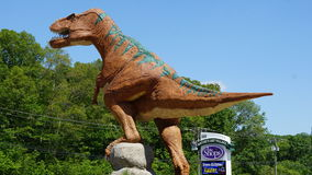 The Dinosaur Place at Nature's Art Village in Montville, Connecticut Stock Images