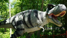The Dinosaur Place at Nature's Art Village in Montville, Connecticut. The park features over 40 life-sized dinosaurs on 1.5 miles of nature trails stock photo