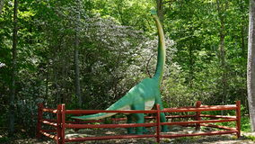 The Dinosaur Place at Nature's Art Village in Montville, Connecticut Stock Photo