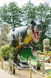 Dinosaur. A plastic model of a dinosaur for a popluar film stock image