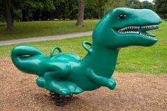 dinosaur plastic ride spring Arkivbilder