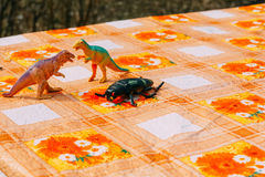 Dinosaur Plastic Toy Royalty Free Stock Images
