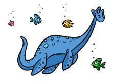 Dinosaur plesiosaur sea Stock Photos