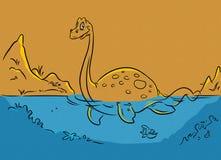 Dinosaur plesiosaur Stock Photography
