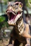 Dinosaur pokazuje jego toothy usta Zdjęcia Royalty Free