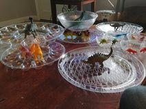 Dinosaur porcji naczynia zdjęcie stock