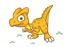 Dinosaur  predator cartoon Illustrations. Isolated image animal character Royalty Free Stock Photo