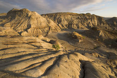 Dinosaur provincial park. Badlands with erosion rills in dinosaur provincial park Stock Photo