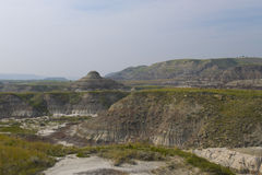 Dinosaur Provincial Park in Drumheller Royalty Free Stock Image