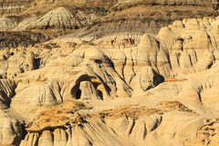 Dinosaur Provincial Park. Drumheller badlands at the Dinosaur Provincial Park in Alberta, where rich deposits of fossils and dinosaur bones have been found. The Stock Image
