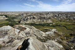 Dinosaur Provincial Park. Landscape featuring the badlands from Dinosaur Provincial Park Royalty Free Stock Image