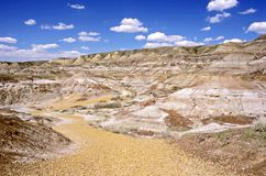 Dinosaur Provincial Park Path Royalty Free Stock Photo