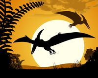 Dinosaur pterodactyl. Stock Images