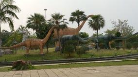 Dinosaur replic in Pu Wieng Park Stock Image