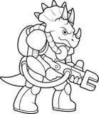Dinosaur ready to attack Royalty Free Stock Photos