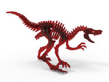 Dinosaur red glass skeleton Stock Photo