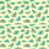 Dinosaur retro pattern Royalty Free Stock Photography