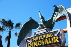 The Dinosaur Ride. OSAKA, JAPAN - MAR 21, 2016 : Photo of the Dinosaur Ride New attraction at Universal Studios JAPAN, Osaka, Japan Royalty Free Stock Photo