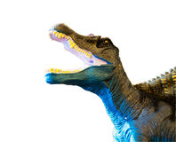 Dinosaur roaring. On white background with clipping path Stock Image