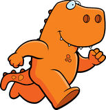 Dinosaur Running Stock Photo