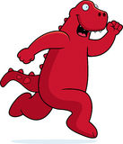 Dinosaur Running Royalty Free Stock Photos