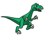 Dinosaur running  cartoon Royalty Free Stock Photos