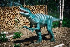 Dinosaur rzeźba w lesie AB parka natura Zdjęcia Stock