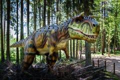 Dinosaur rzeźba w lesie AB parka natura Obrazy Royalty Free