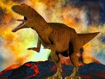 Dinosaur's doomsday Royalty Free Stock Image