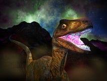 Dinosaur's doomsday. The Dinosaur's doomsday at night Stock Photography