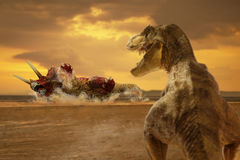 Dinosaur. Scene of the two s Royalty Free Stock Image