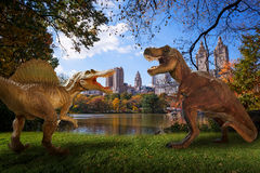 Dinosaur. Scene of the two s fighting each Royalty Free Stock Photos