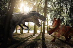Dinosaur. Scene of the two s fighting each Royalty Free Stock Photo