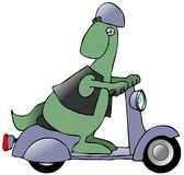 Dinosaur On A Scooter Royalty Free Stock Photography