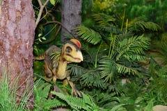 Dinosaur sculpture. A dinosaur sculpture in Shenzhen Dapeng Peninsula National Geopark Museum,China Stock Photo