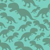 Dinosaur seamless pattern. Dino texture. Tyrannosaurus Rex Ornament. Prehistoric reptile pattern. Animal Jurassic with big teeth. Aggressive beast. Terrible stock illustration