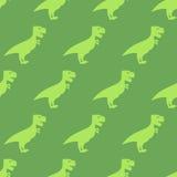 Dinosaur seamless pattern. Texture of  ancient animals of Jurass Stock Photography