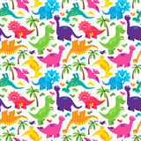 Dinosaur Seamless Tileable Vector Background Pattern. Cute Dinosaur Seamless Tileable Vector Background Pattern Stock Image