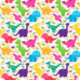 Dinosaur Seamless Tileable Vector Background Pattern Stock Photo