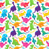 Dinosaur Seamless Tileable Vector Background Pattern Royalty Free Stock Image