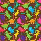 Dinosaur Seamless Tileable Vector Background Pattern. Cute Dinosaur Seamless Tileable Vector Background Pattern Royalty Free Stock Photo