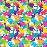 Dinosaur Seamless Tileable Vector Background Pattern Stock Image