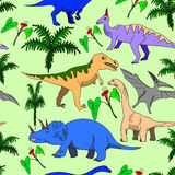 Dinosaur seamless vector for adults Royalty Free Stock Image
