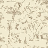 Dinosaur seamless vector for adults Stock Image