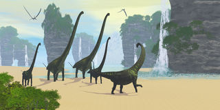 Dinosaur Seashore Royalty Free Stock Images